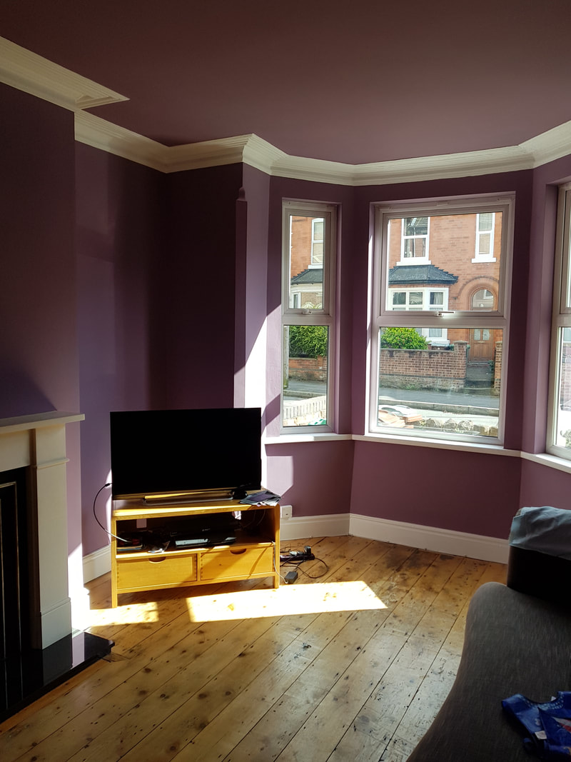 living area painting and decorating in Carrington Nottingham